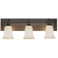 Hubbardton Forge 203223-1015 Traditional 3 Light 25 inch Natural Iron Sconce Wall Light in Opal