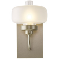 Hubbardton Forge 203320-1007 Nola 1 Light 7 inch Soft Gold Sconce Wall Light in Frost with Clear