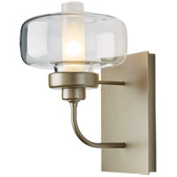 Hubbardton Forge 203320-1015 Nola 1 Light 7 inch Soft Gold Sconce Wall Light in Clear with Frost