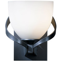 Hubbardton Forge 204101-1009 Ribbon 1 Light 6 inch Burnished Steel Sconce Wall Light in Opal Incandescent
