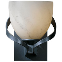 Hubbardton Forge 204101-1010 Ribbon 1 Light 6 inch Burnished Steel Sconce Wall Light in Stone Incandescent