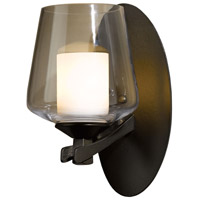 Hubbardton Forge 204104-1002 Ribbon 1 Light 5 inch Bronze Sconce Wall Light in Opal and Clear
