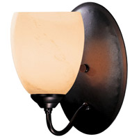 Hubbardton Forge 204212-1007 Simple Lines 1 Light 6 inch Dark Smoke Sconce Wall Light in Stone