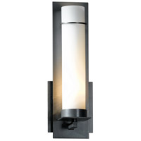 Hubbardton Forge 204260-1012 New Town 1 Light 4 inch Burnished Steel ADA Sconce Wall Light in Opal Incandescent