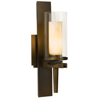 Hubbardton Forge 204301-1002 Constellation 1 Light 5 inch Bronze Sconce Wall Light in Opal and Clear