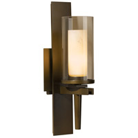 Hubbardton Forge 204301-1003 Constellation 1 Light 5 inch Bronze Sconce Wall Light in Stone and Clear