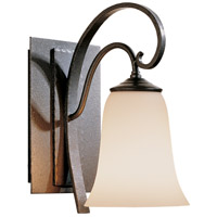 Hubbardton Forge 204531-1015 Scroll 1 Light 5 inch Natural Iron Sconce Wall Light in Opal