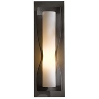 Hubbardton Forge 204790-1009 Dune 1 Light 5 inch Burnished Steel ADA Sconce Wall Light in Opal