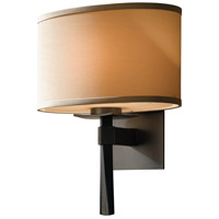 Hubbardton Forge 204810-1015 Beacon Hall 1 Light 11 inch Burnished Steel Sconce Wall Light in Incandescent Doeskin Suede