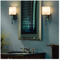 Hubbardton Forge 204820-1009 Beacon Hall 1 Light 6 inch Burnished Steel ADA Sconce Wall Light in Opal Incandescent