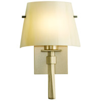 Hubbardton Forge 204825-1054 Beacon Hall 1 Light 9 inch Soft Gold ADA Sconce Wall Light in Incandescent Ivory Art Glass