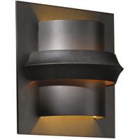 Hubbardton Forge 204915-1010 Twilight 1 Light 7 inch Dark Smoke ADA Sconce Wall Light in Amber