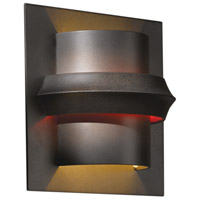 Hubbardton Forge 204915-1011 Twilight 1 Light 7 inch Dark Smoke ADA Sconce Wall Light in Red