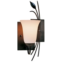 Hubbardton Forge 205122-1030 Forged Leaf 1 Light 7 inch Dark Smoke Sconce Wall Light in Opal Right