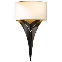 Hubbardton Forge 205315-1008 Calla 2 Light 10 inch Bronze ADA Sconce Wall Light in Natural Anna