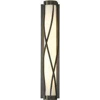Hubbardton Forge 205401-1006 Twine 4 Light 5 inch Dark Smoke Sconce Wall Light in Opal