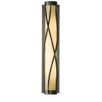 Hubbardton Forge 205401-1007 Twine 4 Light 5 inch Dark Smoke Sconce Wall Light in Stone