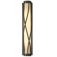 Hubbardton Forge 205401-1008 Twine 4 Light 5 inch Dark Smoke Sconce Wall Light in Pearl