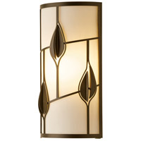Hubbardton Forge 205420-1002 Alisons Leaves 1 Light 8 inch Dark Smoke ADA Sconce Wall Light