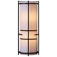 Hubbardton Forge 205910-1029 Extended Bars 1 Light 7 inch Vintage Platinum Sconce Wall Light in Ivory Art, Fluorescent thumb