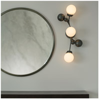Hubbardton Forge 206050-1020 Sprig 3 Light Dark Smoke Sconce Wall Light in Water alternative photo thumbnail