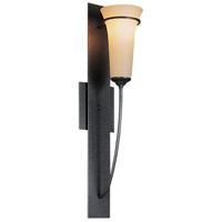 Hubbardton Forge 206251-1015 Banded 1 Light 4 inch Natural Iron Wall Torch Wall Light in Opal alternative photo thumbnail