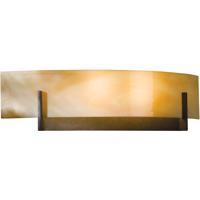 Hubbardton Forge 206401-1008 Axis 2 Light 17 inch Dark Smoke ADA Sconce Wall Light in Amber Swirl