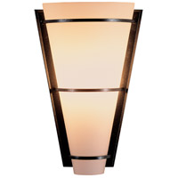 Hubbardton Forge 206551-1015 Suspended Half Cone 1 Light 7 inch Natural Iron ADA Sconce Wall Light in Opal Incandescent