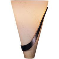 Hubbardton Forge 206563-1028 Half Cone 2 Light 8 inch Bronze Sconce Wall Light in Stone Right