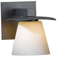 Hubbardton Forge 206601-1012 Wren 1 Light 5 inch Burnished Steel Sconce Wall Light in Opal Incandescent