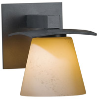 Hubbardton Forge 206601-1013 Wren 1 Light 5 inch Burnished Steel Sconce Wall Light in Stone Incandescent