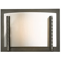 Hubbardton Forge 206740-1010 Forged Vertical Bars LED 13 inch Dark Smoke ADA Sconce Wall Light