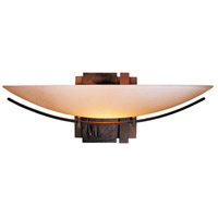 Hubbardton Forge 207370-1003 Oval Impressions 1 Light 16 inch Bronze Sconce Wall Light in Stone