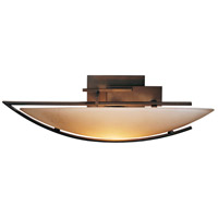 Hubbardton Forge 207380-1003 Oval Ondrian 1 Light 18 inch Bronze Sconce Wall Light in Stone Left