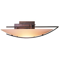 Hubbardton Forge 207380-1019 Oval Ondrian 1 Light 18 inch Bronze Sconce Wall Light in Stone Right