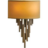 Hubbardton Forge 207460-1005 Echelon 2 Light 10 inch Bronze ADA Sconce Wall Light in Doeskin Suede