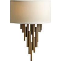 Hubbardton Forge 207460-1009 Echelon 2 Light 10 inch Bronze ADA Sconce Wall Light in Flax