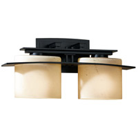 Hubbardton Forge 207522-1013 Arc Ellipse 2 Light 17 inch Black Sconce Wall Light in Stone Incandescent