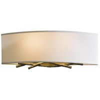 Hubbardton Forge 207660-1018 Brindille 2 Light 16 inch Burnished Steel ADA Sconce Wall Light in Natural Anna