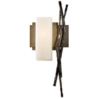 Hubbardton Forge 207670-1005 Brindille 1 Light 8 inch Bronze ADA Sconce Wall Light in Pearl Left