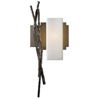 Hubbardton Forge 207670-1027 Brindille 1 Light 8 inch Bronze ADA Sconce Wall Light in Opal Right