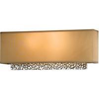Hubbardton Forge 207690-1000 Oceanus 2 Light Vintage Platinum ADA Sconce Wall Light in Doeskin Suede