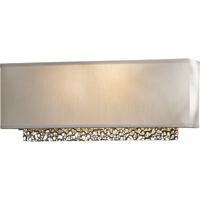 Hubbardton Forge 207690-1003 Oceanus 2 Light Vintage Platinum ADA Sconce Wall Light in Flax