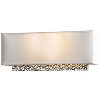 Hubbardton Forge 207690-1004 Oceanus 2 Light Vintage Platinum ADA Sconce Wall Light in Natural Anna
