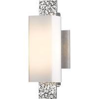 Hubbardton Forge 207693-1000 Oceanus 1 Light 5 inch Vintage Platinum ADA Sconce Wall Light in Opal