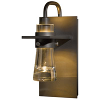 Hubbardton Forge 207710-1011 Erlenmeyer 1 Light 5 inch Dark Smoke Sconce Wall Light in Clear