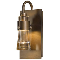 Hubbardton Forge 207720-1007 Erlenmeyer 1 Light 5 inch Bronze ADA Sconce Wall Light in Clear