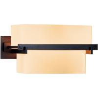 Hubbardton Forge 207821-1007 Kakomi 2 Light 10 inch Dark Smoke Sconce Wall Light in Stone
