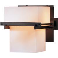 Hubbardton Forge 207831-1006 Kakomi 1 Light 7 inch Dark Smoke Sconce Wall Light in Opal