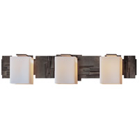 Hubbardton Forge 207843-1006 Impressions 3 Light 28 inch Dark Smoke Sconce Wall Light in Opal